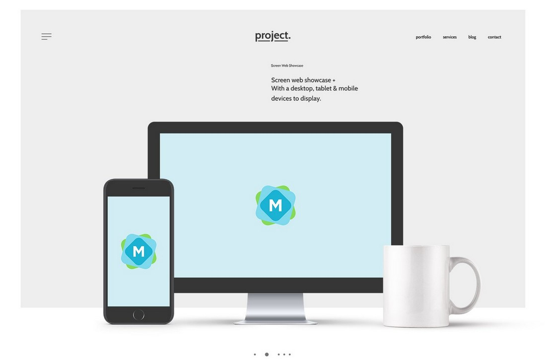 Free Website Header Showcase Mockup