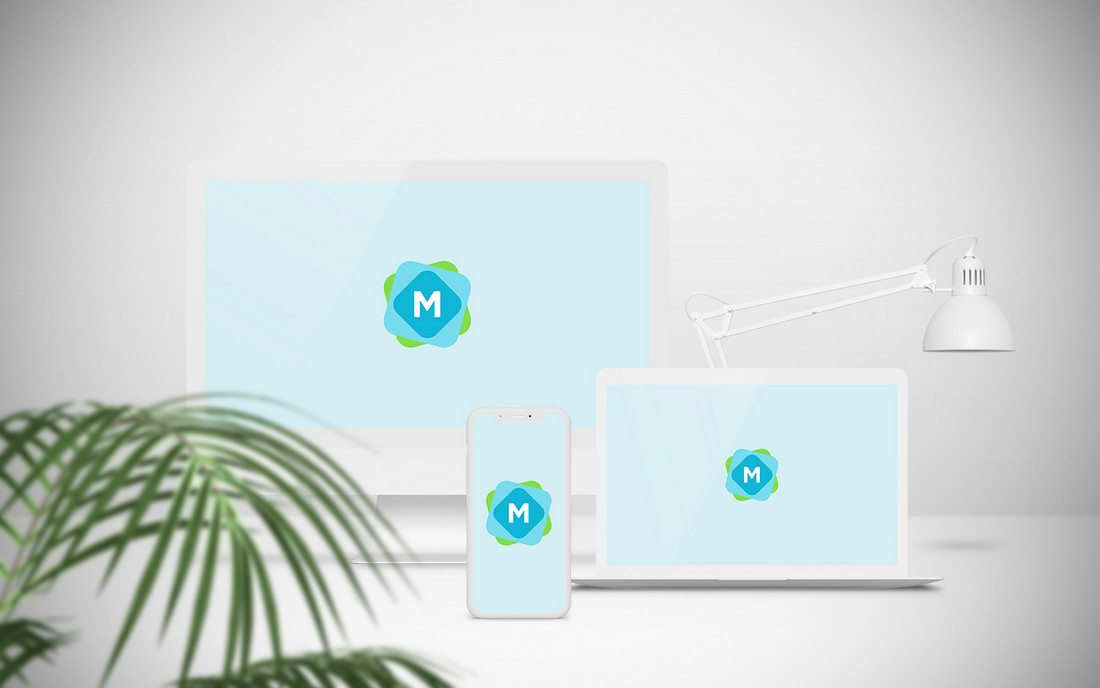Free Website Showcase Mockup