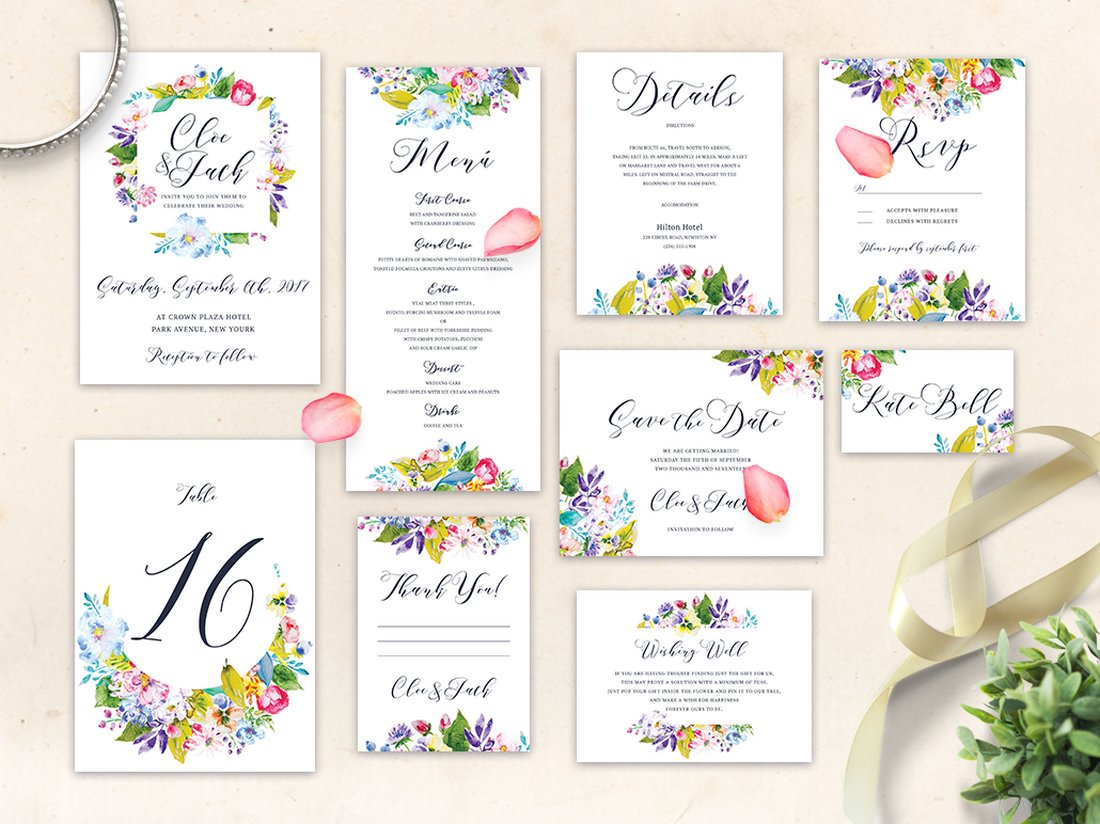 Free Wedding Invitation Templates Pack