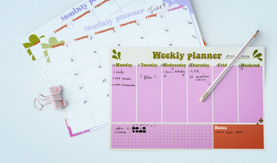 Free Weekly and Monthly Planner Template