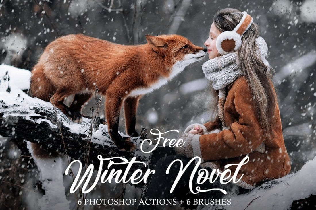 Free Winter Snow Photoshop Action