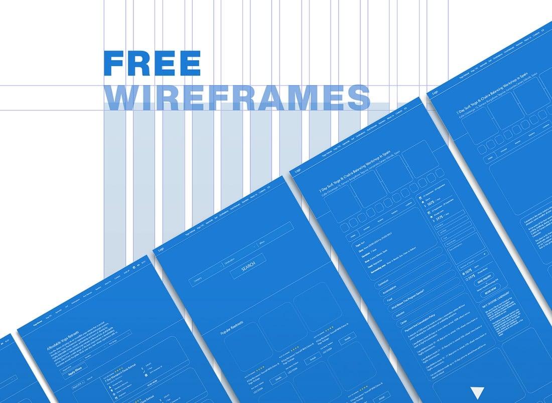 Free Wireframes Adobe XD Template