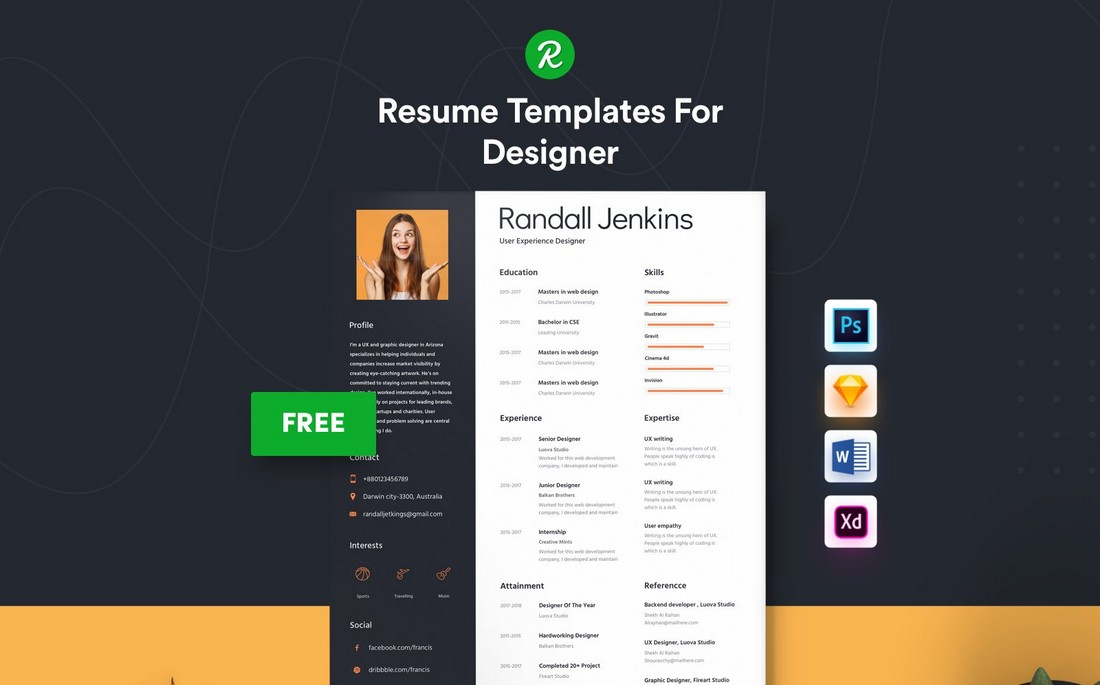 Free Word Resume & Cover Letter Template