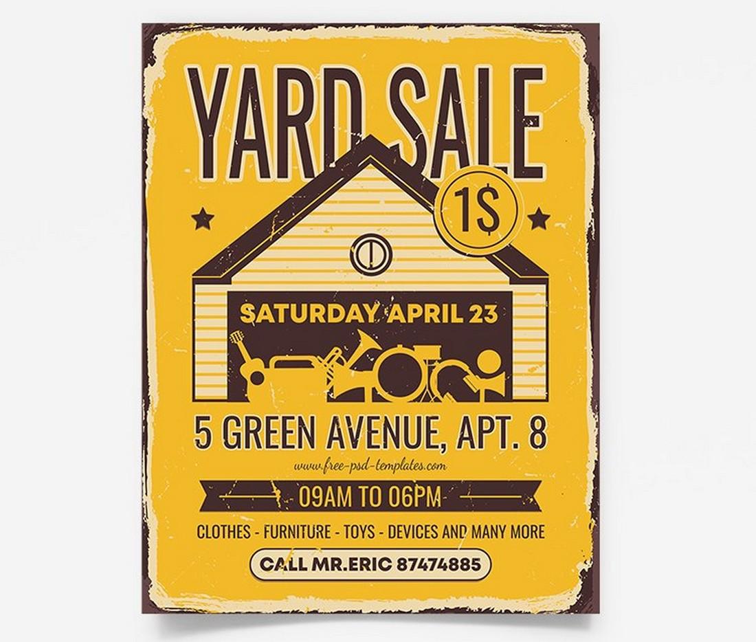 Free Yard Sale Flyer Template