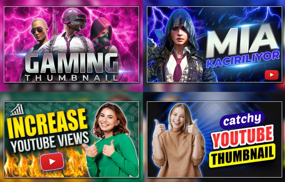 Free-YouTube-Thumbnail-Templates-for-Gamers 20+ Best YouTube Thumbnail Templates in 2021 design tips