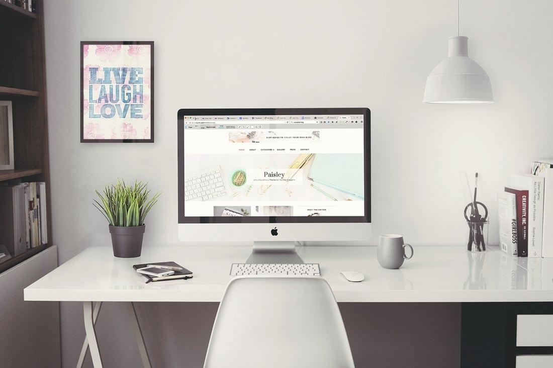 Free-iMac-Mockup-5k-Retina-Home-Office 40+ iMac Mockup PSDs, Photos & Vectors design tips