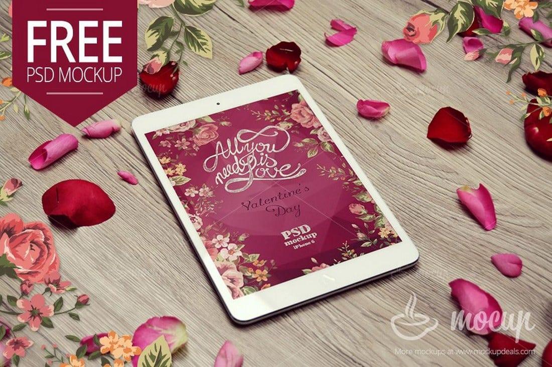 Free-iPad-Mini-Mockup-Valentine 100+ iPad Mockup PSD & PNG Templates design tips