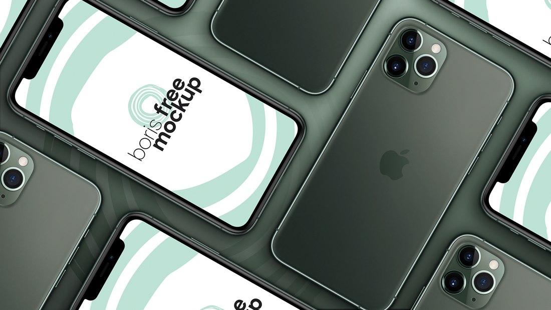 Maqueta gratuita de iPhone 11 Pro Max