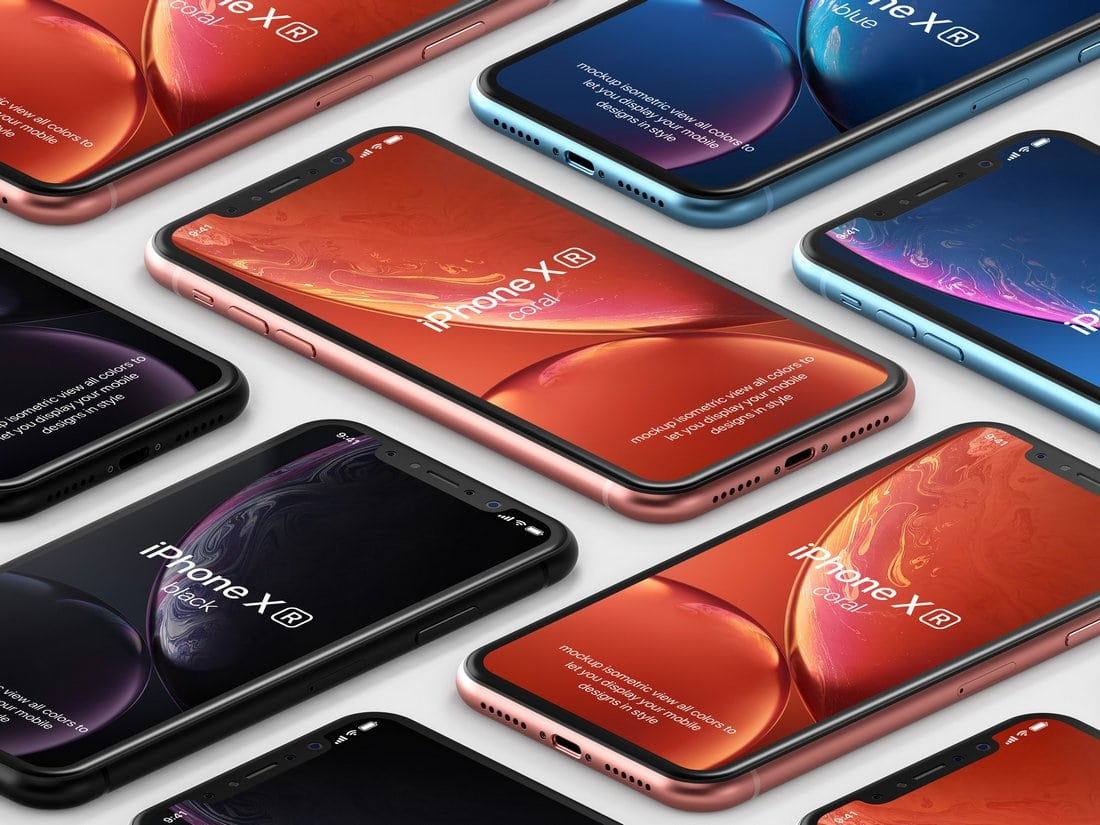 Free iPhone XR PSD Mockup