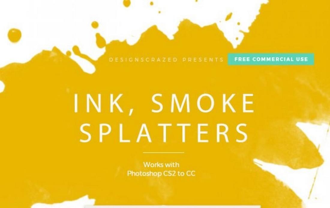Free ink smoke splatter brushes