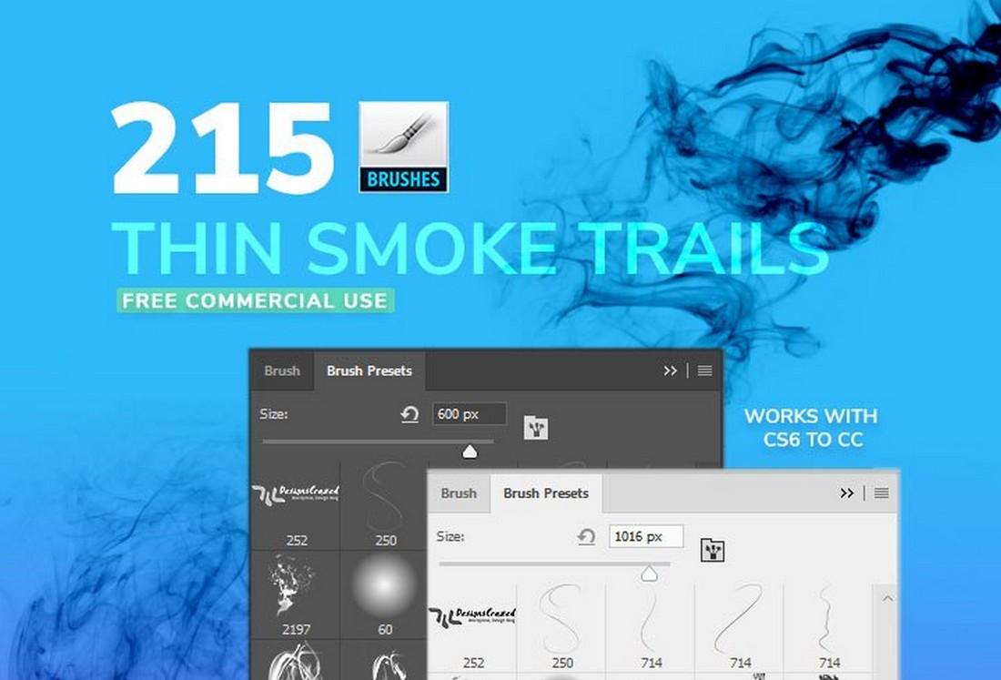 Free thin smoke brushes