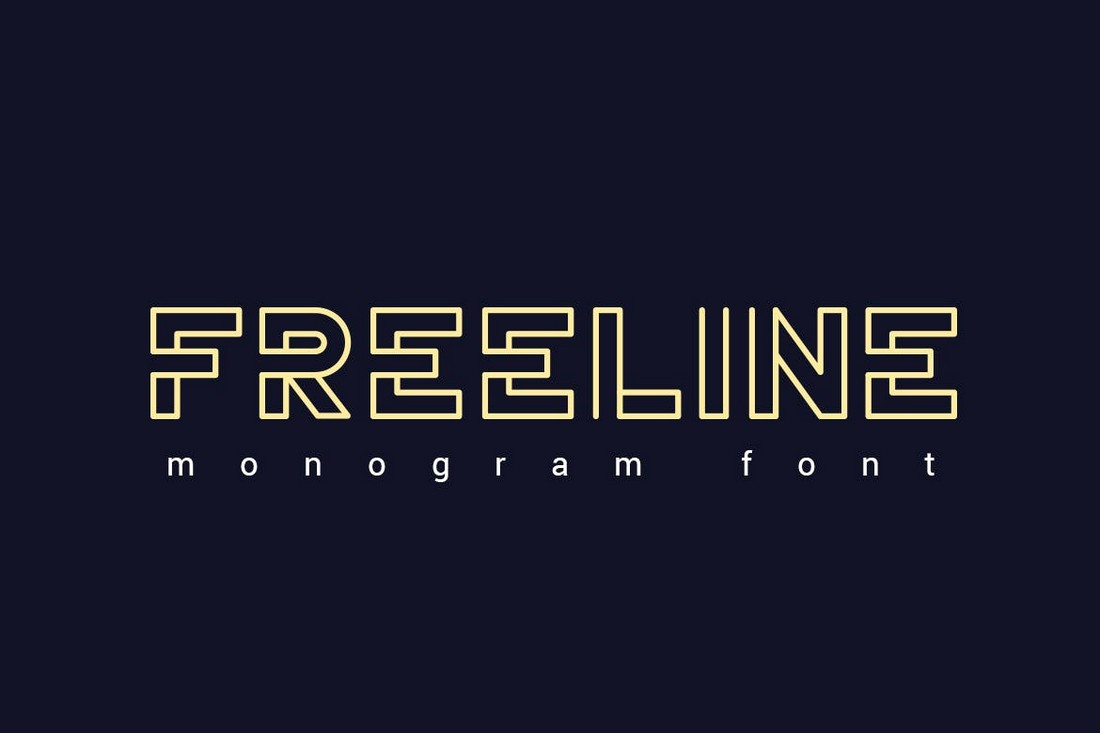 Freeline - Decorative Monogram Font