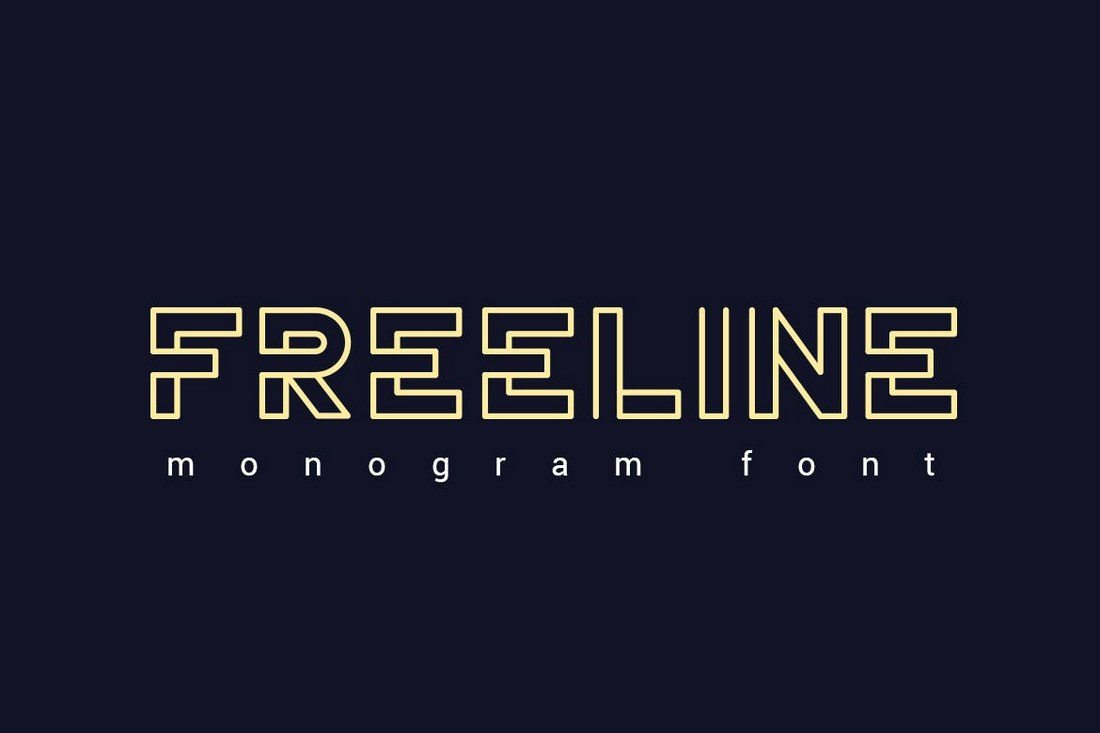Freeline-Font 30+ Best Fonts for Logo Design design tips