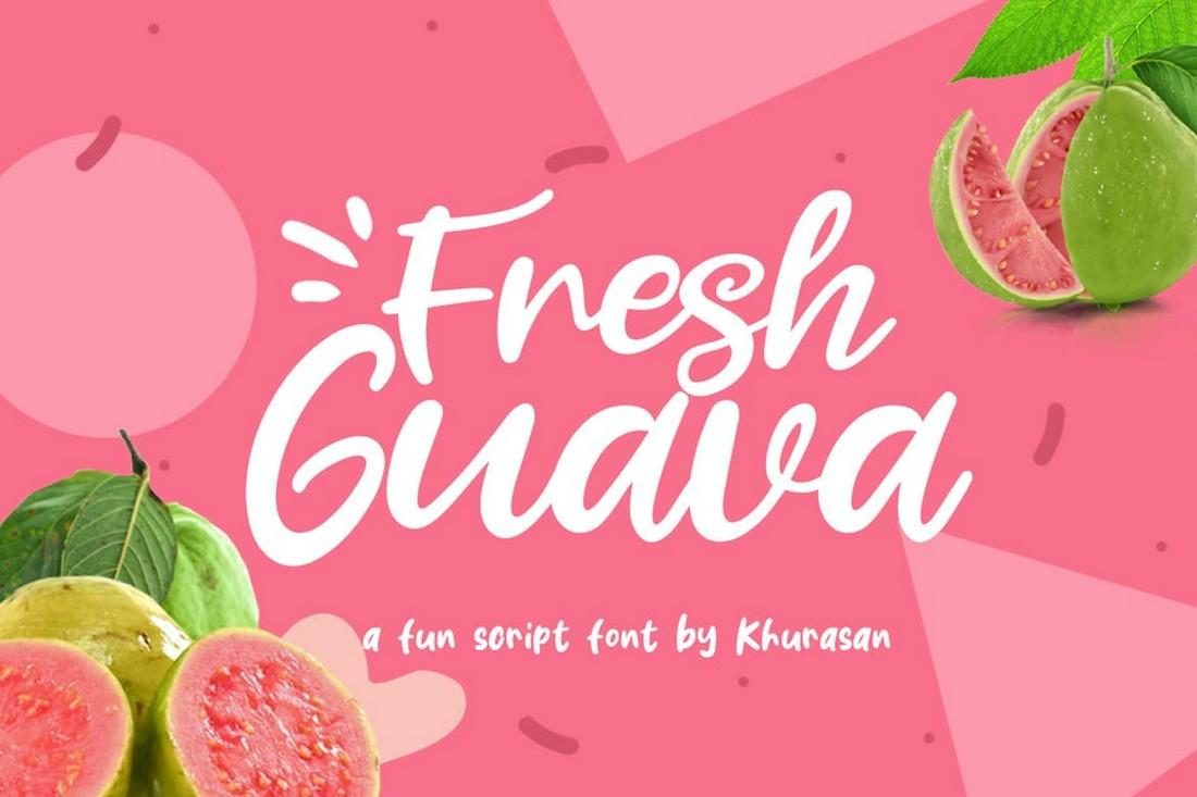 Fresh Guava - Creative Logo Font
