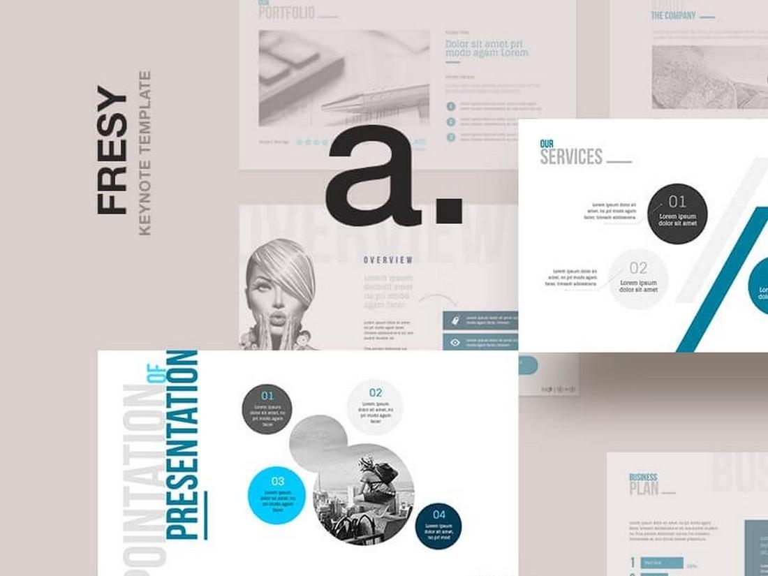Fresy - Free Multipurpose Business Keynote Template