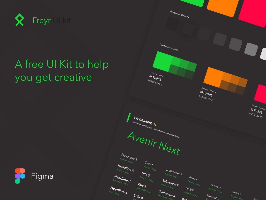 Freyr - Free UI Kit for Figma