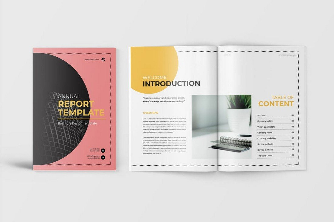 Friday-Annual-Report-Template 50+ Annual Report Templates (Word & InDesign) 2021 design tips
