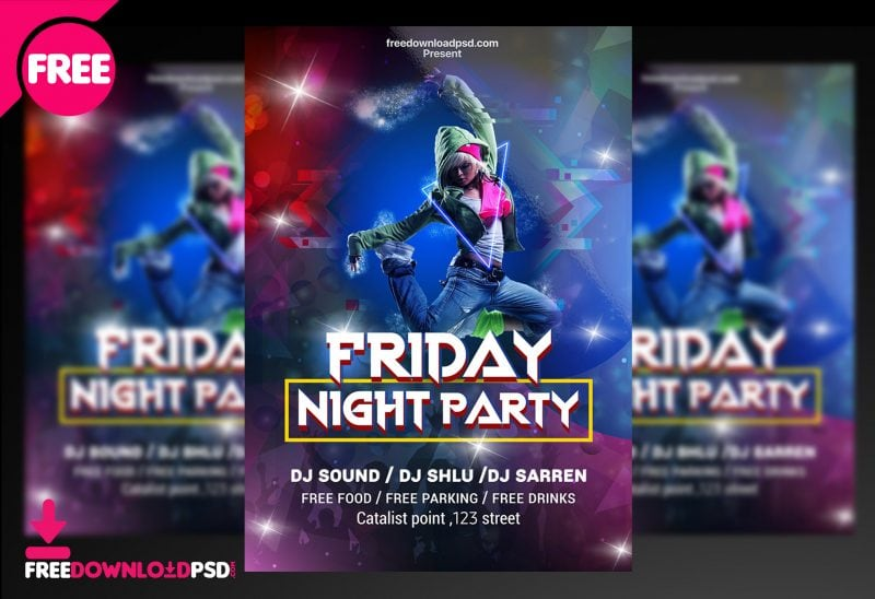 Friday-Night-Club-Party-Flyer-Template 20+ Best Club Flyer Templates design tips  Inspiration