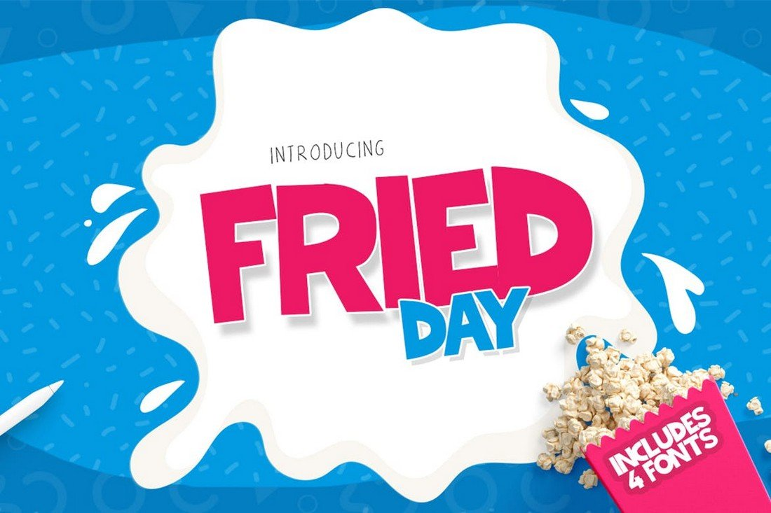 Fried Day - Modern Chunky Font
