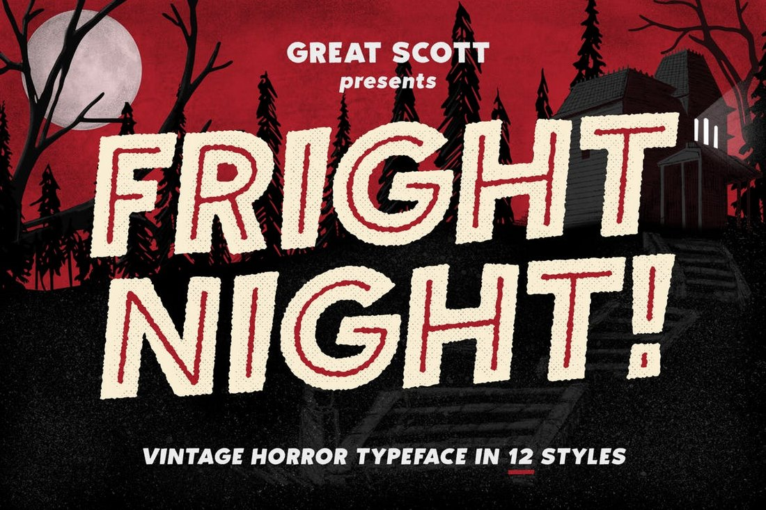 Fright-Night-Vintage-Horror-Font 20+ Best Spooky Halloween Fonts design tips