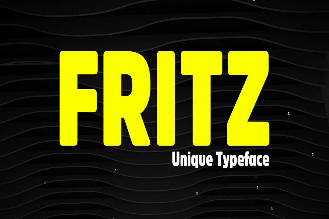 Fritz - Unique & Rounded Title Font