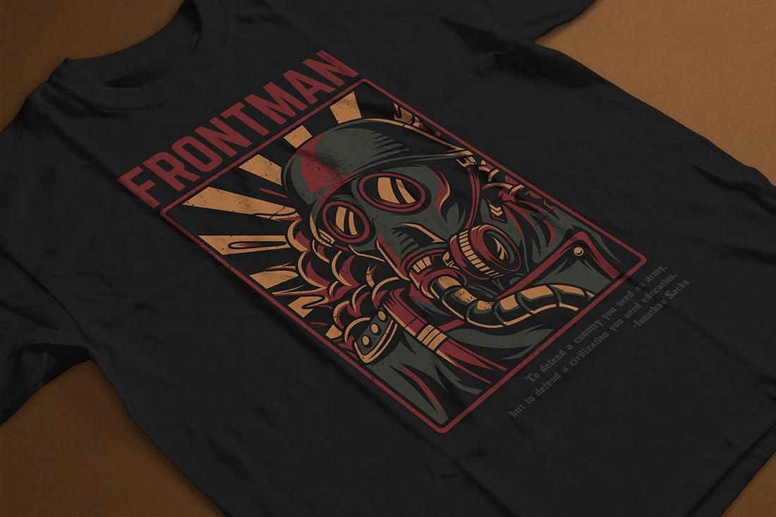 Frontman - Retro T-Shirt Design