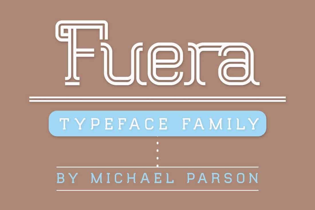 Fuera - Duoline Display Font