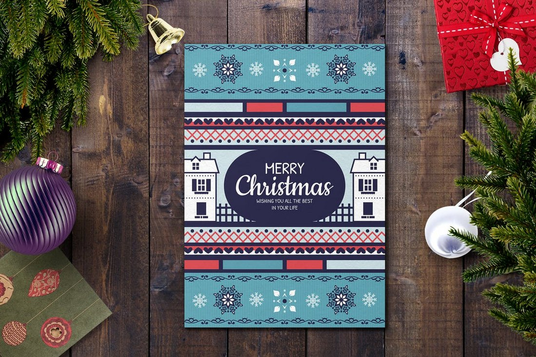 Fun Christmas Card Template