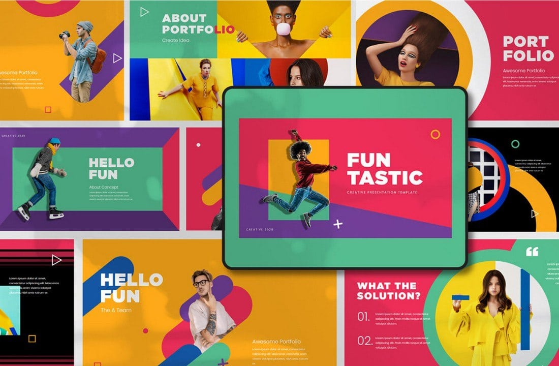 Funtastic - Free Creative PowerPoint Template