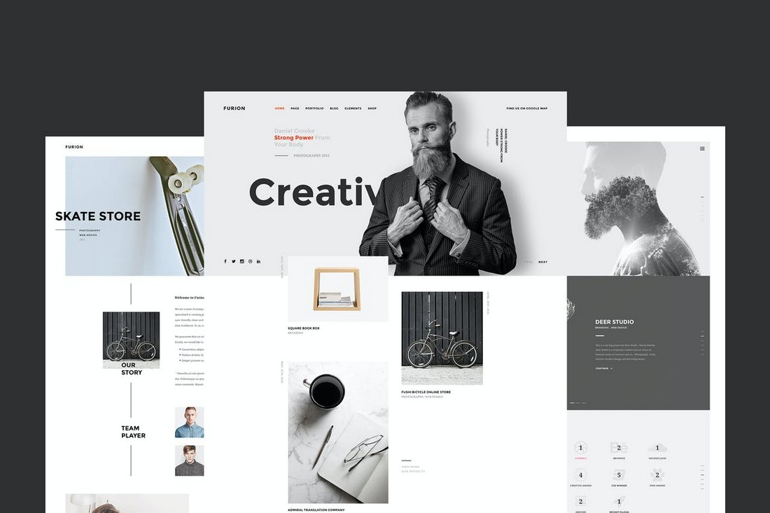 Furion - Creative Website Sketch Template