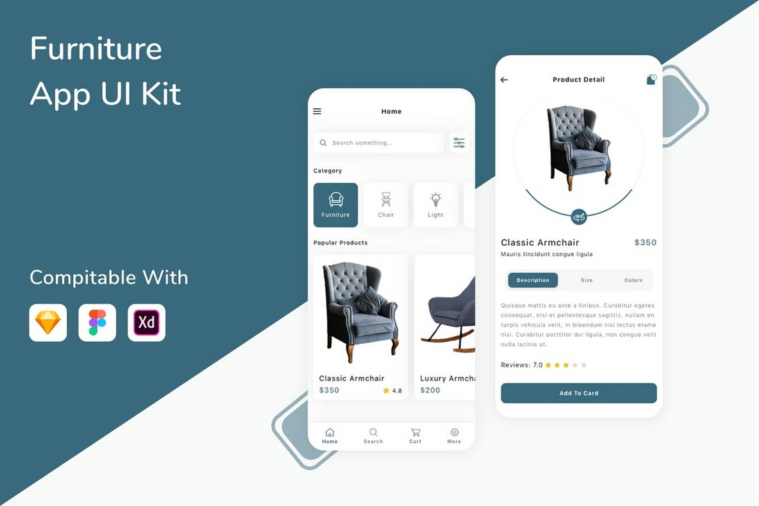 Furniture App UI Kit - Sketch Templates
