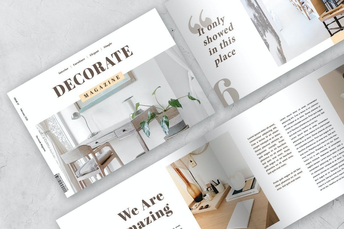 Furniture Landscape InDesign Magazine Template