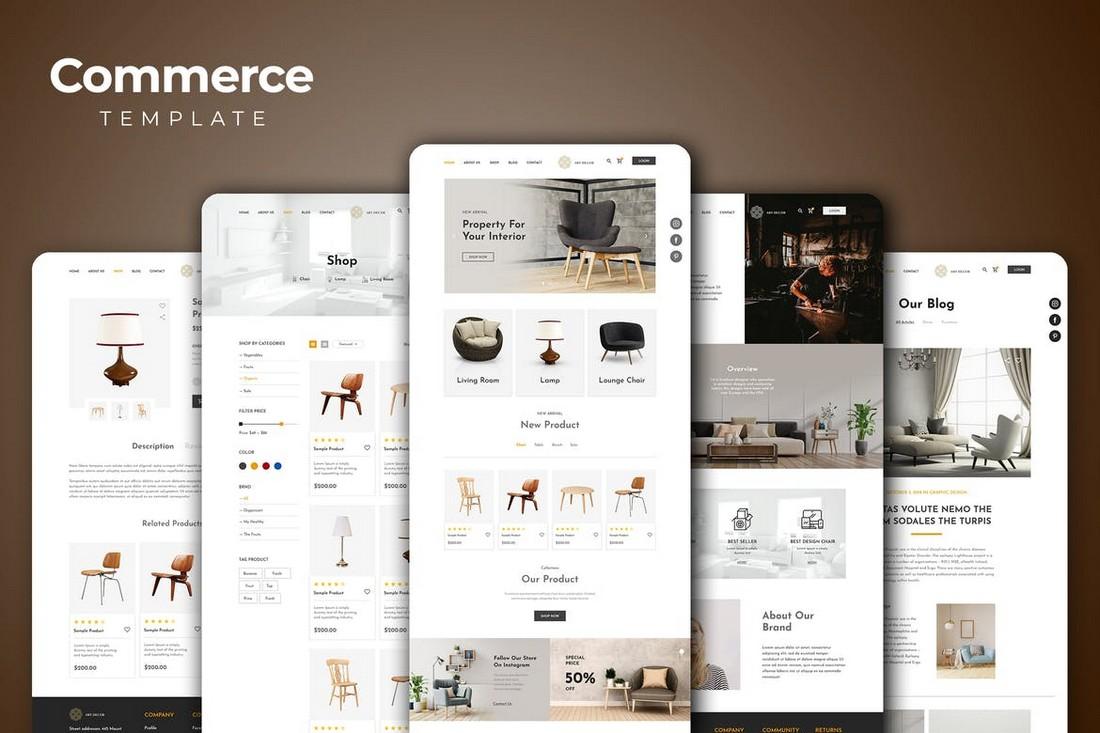 Furniture Store Adobe XD Website Template