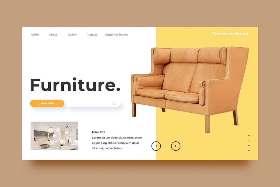 Furniture Website Banner Background