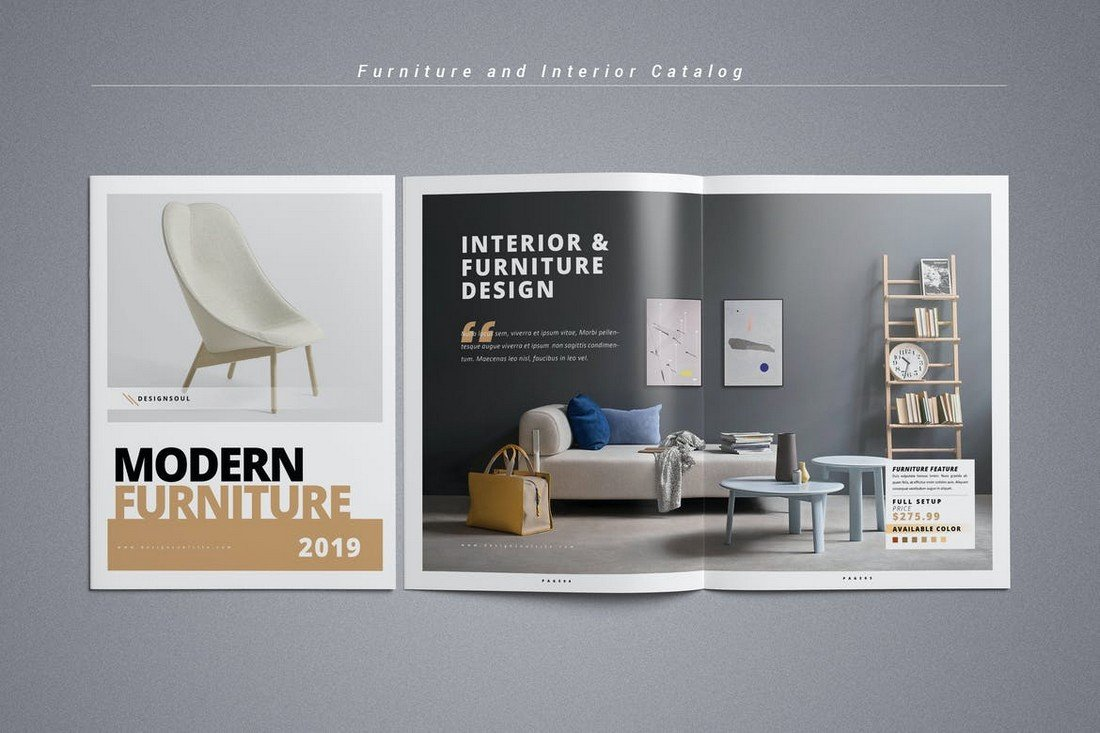 Furniture and Interior Design Catalog Template