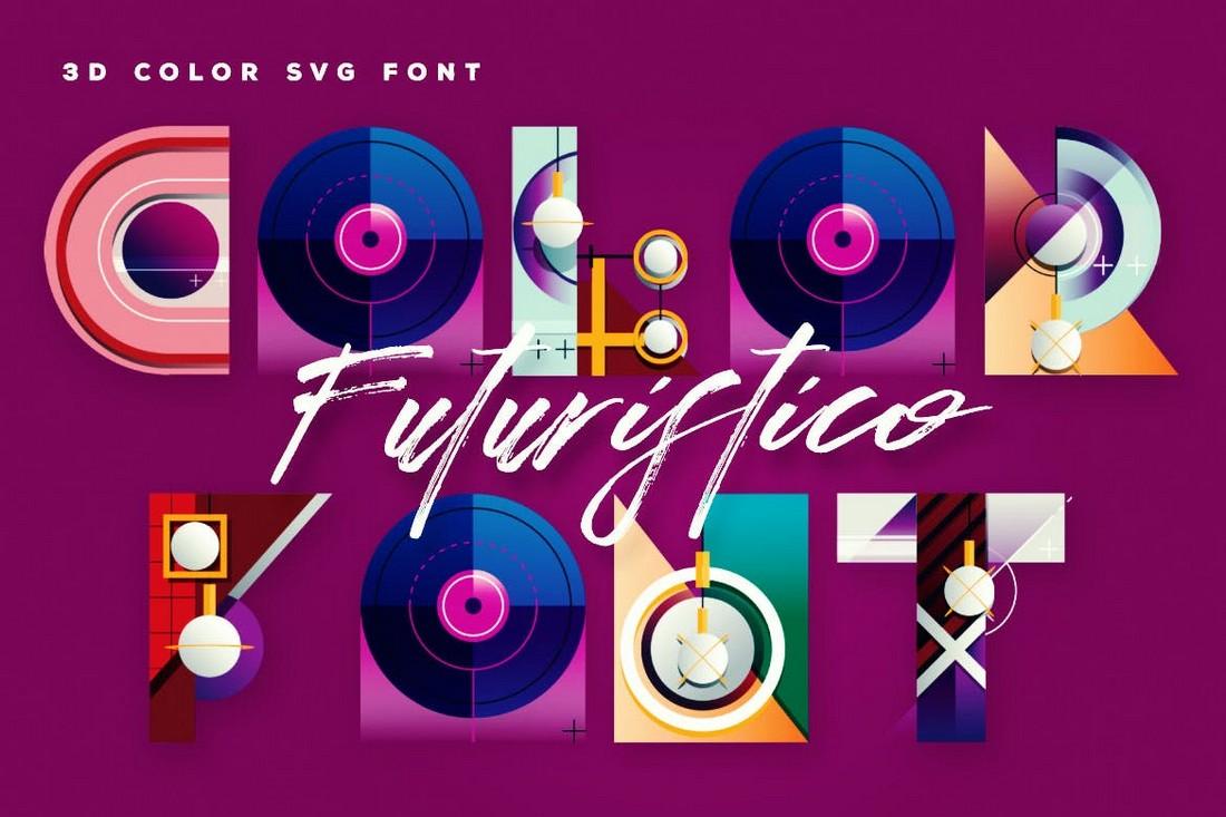 Futuristico - Unique 3D Color Font