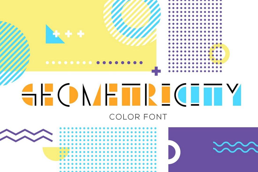 GEOMETRICITY - Geometric Color Font