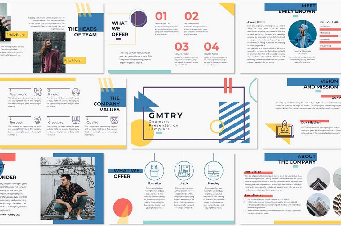 GMTRY – Free Geometric Presentation Template