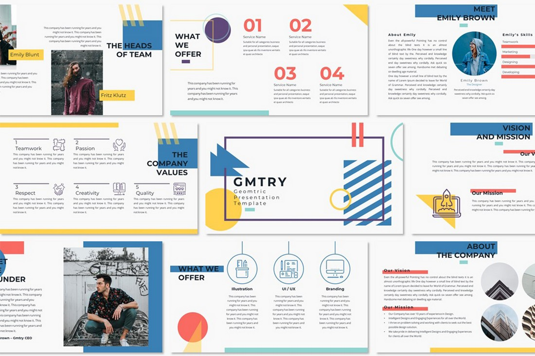 GMTRY - Free Geometric Presentation Template
