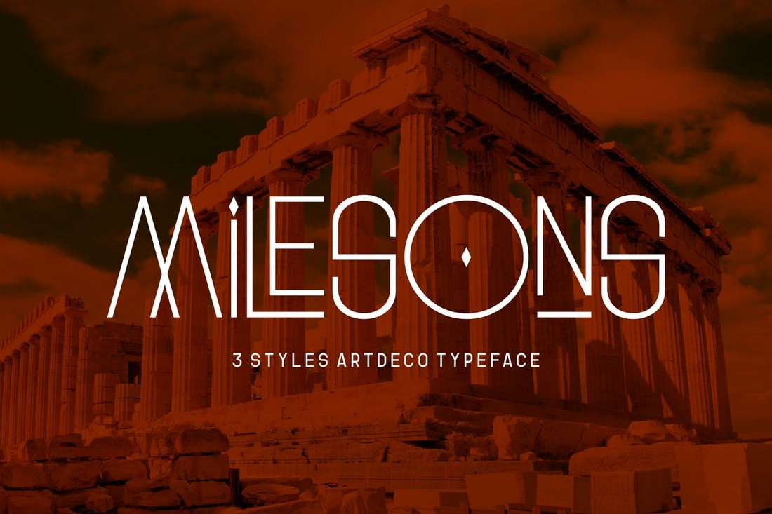GR Milesons - Artdeco Decorative Font