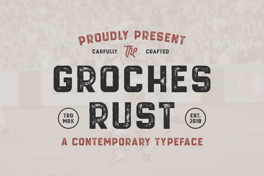 GROCHES RUST - Vintage Rustic Font