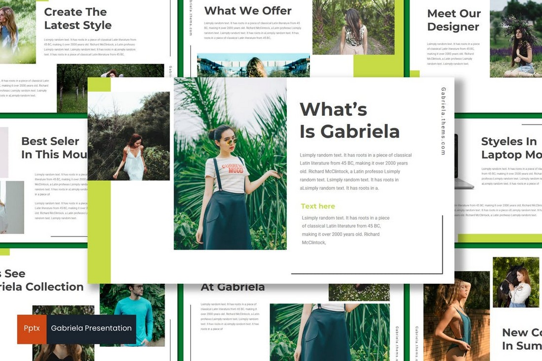 Gabriela - Modern Powerpoint Template