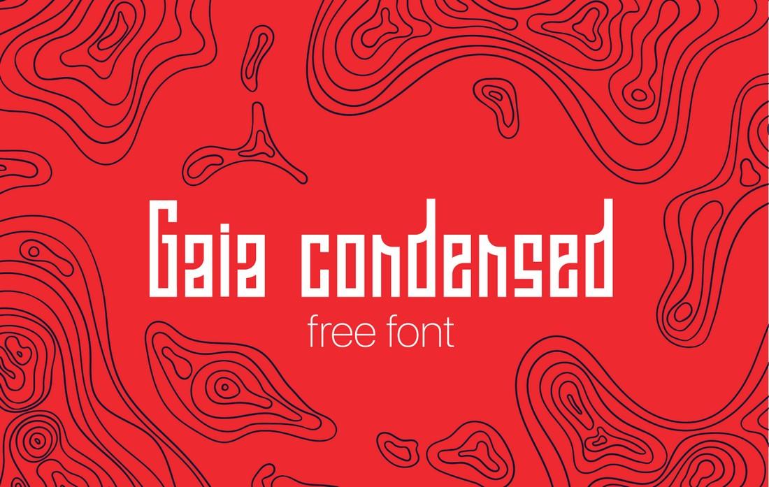 Gaia - Free Modern Condensed Font
