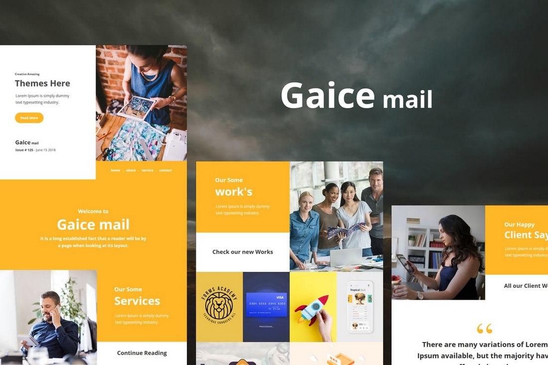 Gaice-Mail-Responsive-E-mail-Template 40+ Modern Responsive Email Templates 2021 design tips