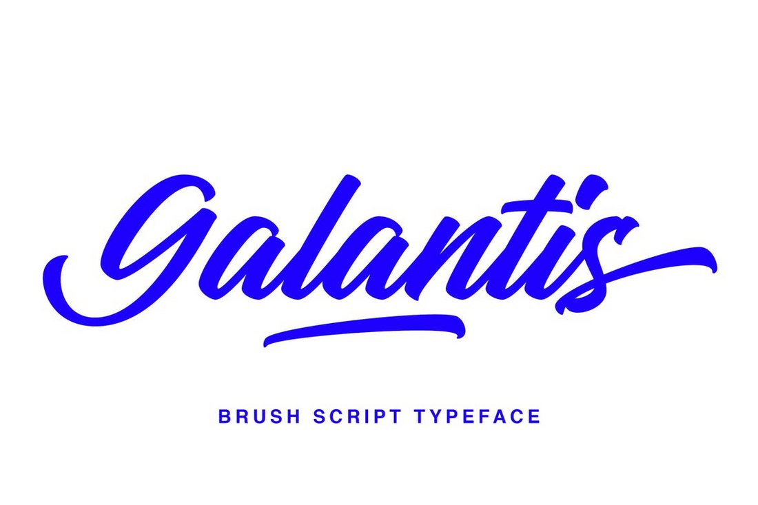 Galantis-Script-Brush-Script-Font 100+ Beautiful Script, Brush & Calligraphy Fonts design tips