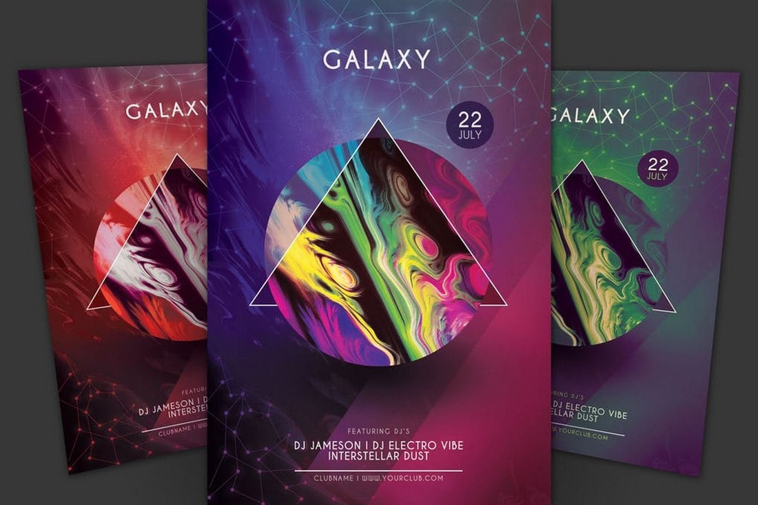 Galaxy-Club-Event-Flyer-Template 20+ Best Club Flyer Templates design tips  Inspiration
