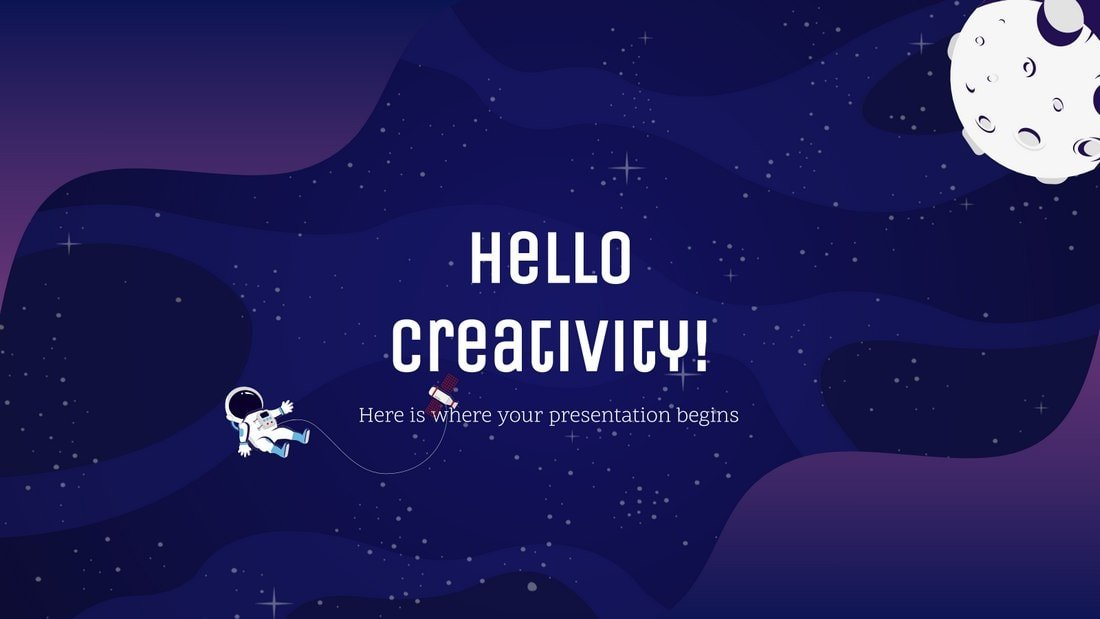 Galaxy Gradient - Free Powerpoint Template
