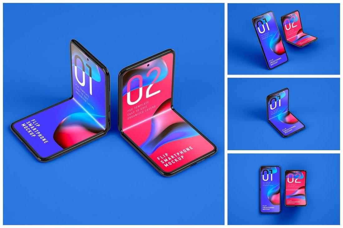 Galaxy Z Flip Mockup Templates