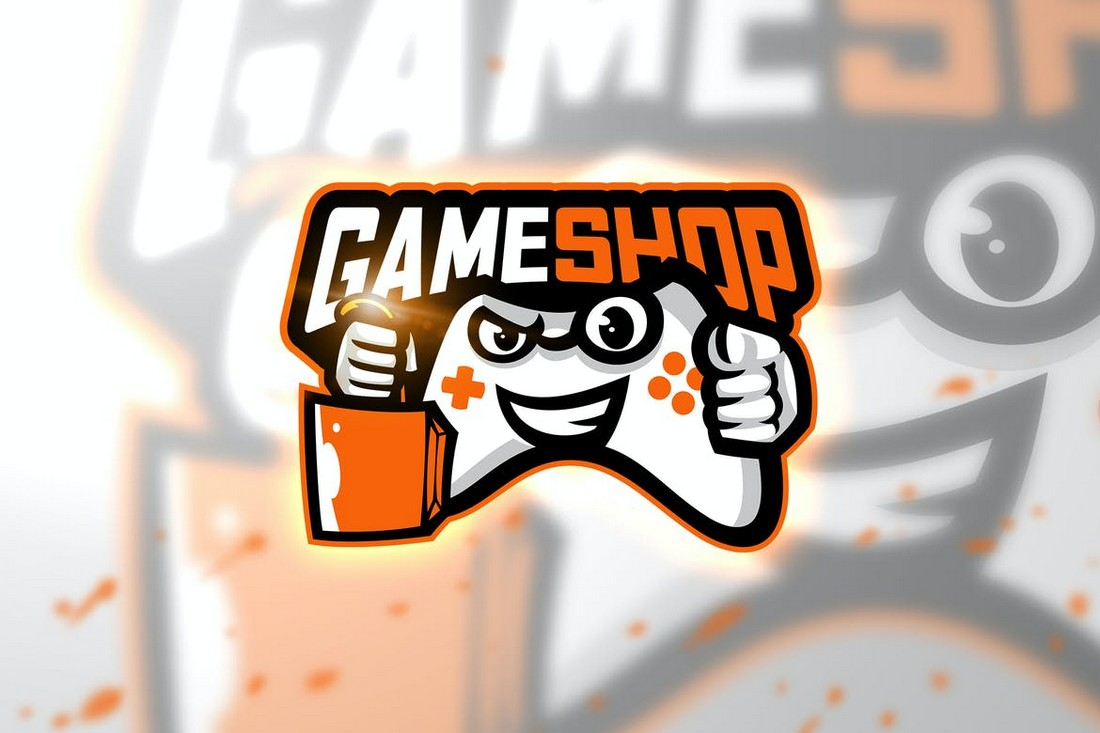 Game Shop - Games Store & App Logo Template