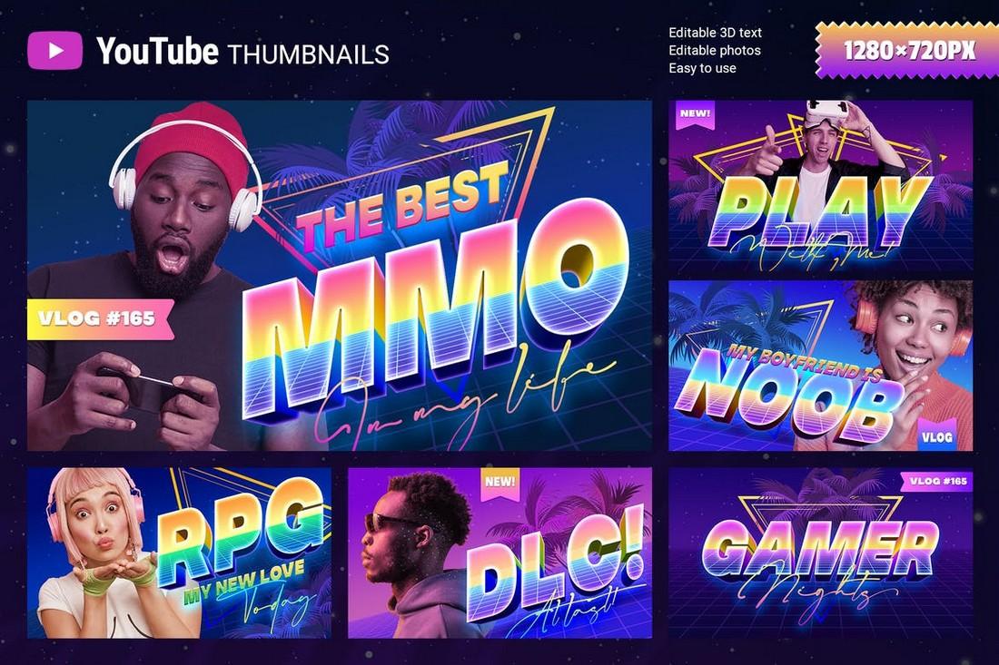 Gamer YouTube Thumbnails